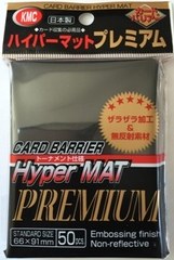 KMC Premium Hyper Matte Black Sleeves (50ct)