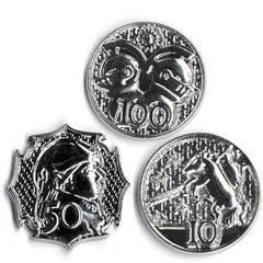 GameMastery Campaign Coins: Platinum (10, 50, 100)