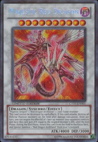 Majestic Red Dragon - CT07-EN001 - Secret Rare - Limited Edition