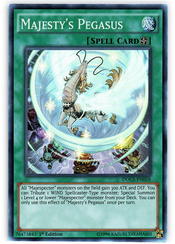 Majesty's Pegasus - DOCS-EN058 - Super Rare - 1st Edition