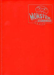 Monster Protectors 9 Pocket Matte Red Binder