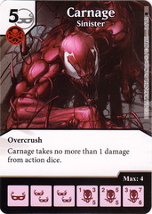 Carnage - Sinister (Die & Card Combo)