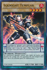Igknight Templar - CORE-EN028 - Ultra Rare - Unlimited Edition