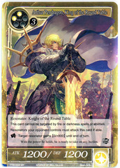 Arthur Pendragon, King of the Round Table - TTW-003 - SR - 1st Edition (Foil)