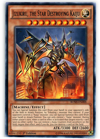 Jizukiru, the Star Destroying Kaiju - BOSH-EN088 - Rare - 1st Edition