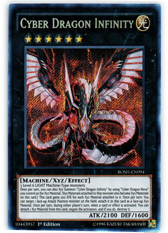 Cyber Dragon Infinity - BOSH-EN094 - Secret Rare - 1st Edition