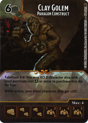 Clay Golem - Paragon Construct (Die & Card Combo)