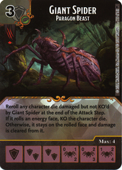 Giant Spider - Paragon Beast (Die & Card Combo)