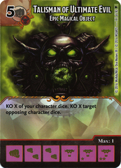 Talisman of Ultimate Evil - Epic Magical Object (Die & Card Combo)