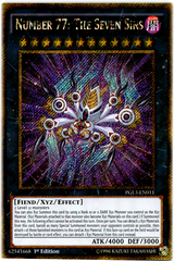 Number 77: The Seven Sins - PGL3-EN011 - Gold Secret Rare - 1st Edition