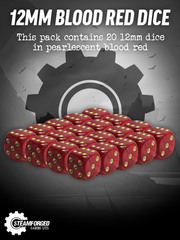 12mm Blood Red Dice x20