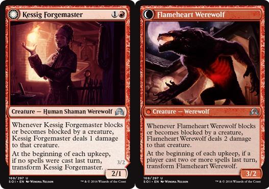 Kessig Forgemaster // Flameheart Werewolf