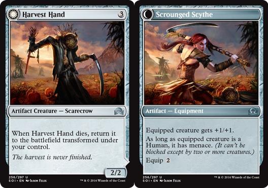 Harvest Hand // Scrounged Scythe  - Foil