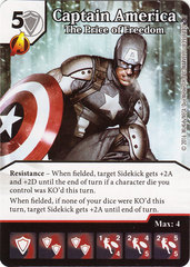 Captain America - The Price of Freedom (Die & Card Combo)