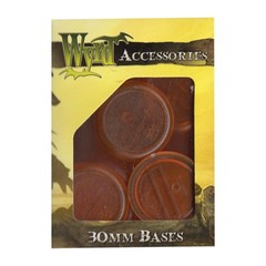 Malifaux: Accessories - Orange Translucent Bases 30mm