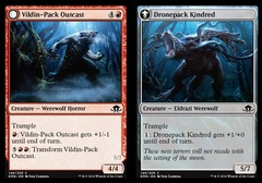 Vildin-Pack Outcast // Dronepack Kindred - Foil
