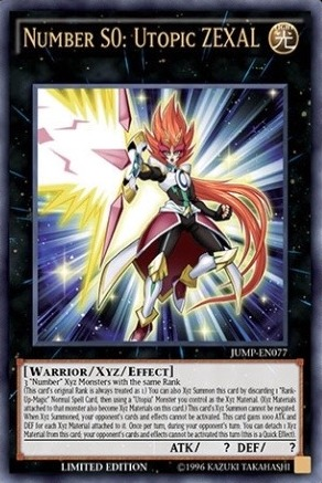 Number S0: Utopic ZEXAL - JUMP-EN077 - Ultra Rare - Limited Edition
