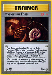 Mysterious Fossil - 62/62 - Common - 1st Edition