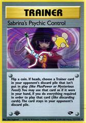 Sabrina's Psychic Control - 121/132 - Uncommon - 1st Edition