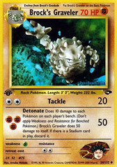 Brock's Graveler - 34/132 - Uncommon - 1st Edition