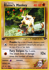 Blaine's Mankey - 63/132 - Common - 1st Edition