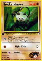 Brock's Mankey - 67/132 - Common - 1st Edition
