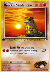 Brock's Sandshrew - 72/132 - Common - 1st Edition