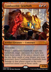 Combustible Gearhulk (Masterpiece Foil) on Channel Fireball