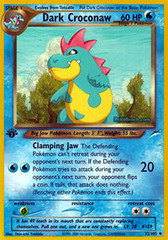 Dark Croconaw - 32/105 - Uncommon - 1st Edition