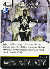 Black Bolt - King of the Inhumans (Die & Card Combo)