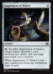 Implement of Malice - Foil