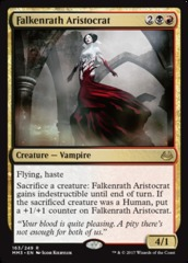 Falkenrath Aristocrat on Channel Fireball