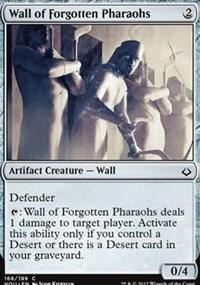 Wall of Forgotten Pharaohs - Foil
