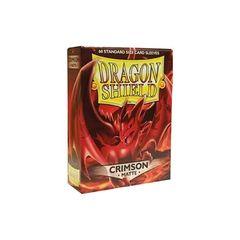 Matte Crimson - Standard Boxed Sleeves (Dragon Shield) - 60 ct