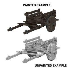 Deep Cuts Unpainted Miniatures - 2 Wheel Cart