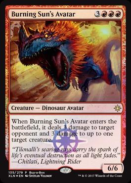 Burning Sun's Avatar (Ixalan Buy-a-Box Promo)