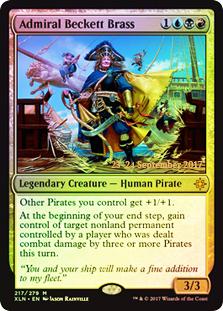 Admiral Beckett Brass (Ixalan Prerelease Foil)