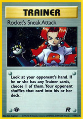 Rocket's Sneak Attack - 16/82 - Holo Rare - 1st Edition
