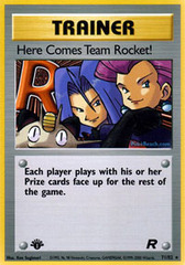 Here Comes Team Rocket! - 71/82 - Rare - 1st Edition