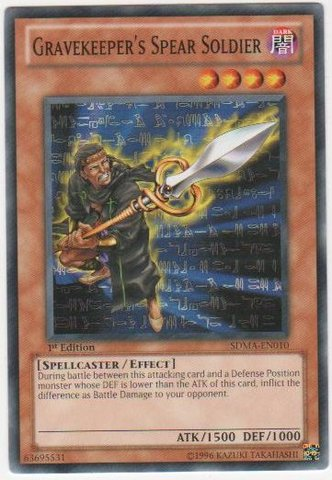 Gravekeeper's Spear Soldier - SDMA-EN010 - Common - 1st Edition