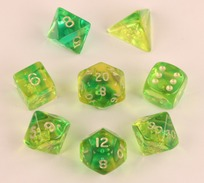Firefly Aqua Polyhedral Dice Set (7)