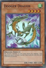 Dodger Dragon - EXVC-EN082 - Super Rare - 1st Edition on Channel Fireball