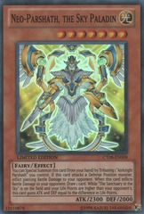 Neo-Parshath, the Sky Paladin - CT08-EN009 - Super Rare - Limited Edition on Channel Fireball
