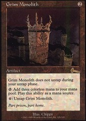 Grim Monolith - Foil on Channel Fireball
