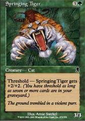 Springing Tiger - Foil
