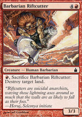 Barbarian Riftcutter - Foil on Channel Fireball