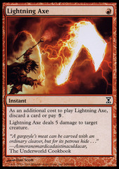 Lightning Axe - Foil on Channel Fireball