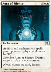 Aura of Silence - Foil on Channel Fireball