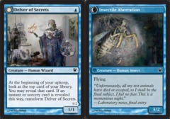 Delver of Secrets // Insectile Aberration - Foil