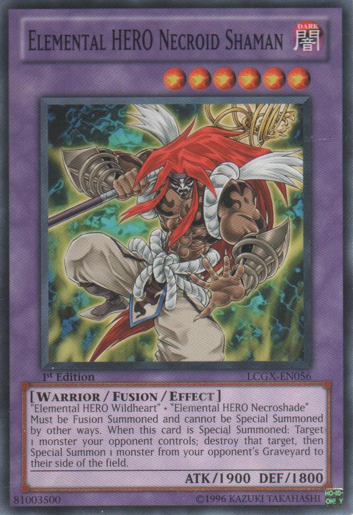 elemental hero necroid shaman lcgxen056 common 1st